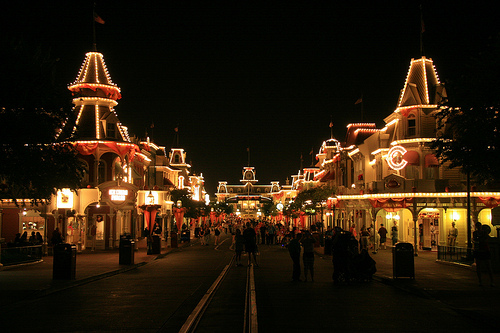 disney main street night photo