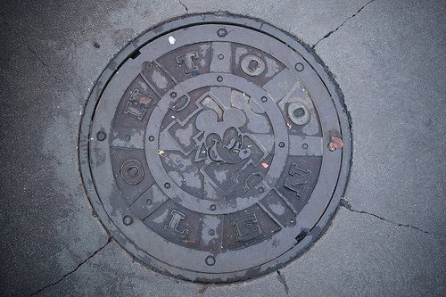 toontown manhole cover photo