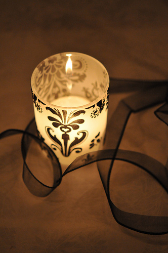 votive candles photo
