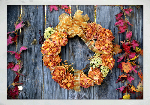 fall wreath photo