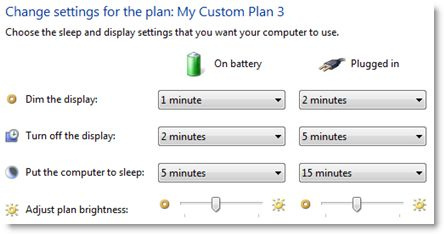 laptop power plan photo