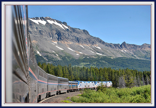 amtrak mountains photo