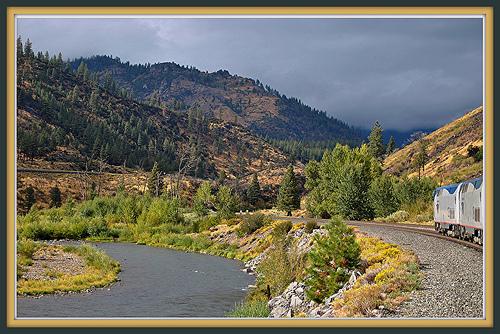 amtrak mountains photo