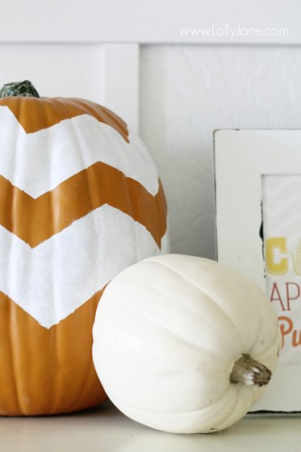 chevron-painted-pumpkin