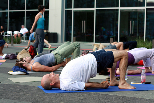 bridge pose yoga photo