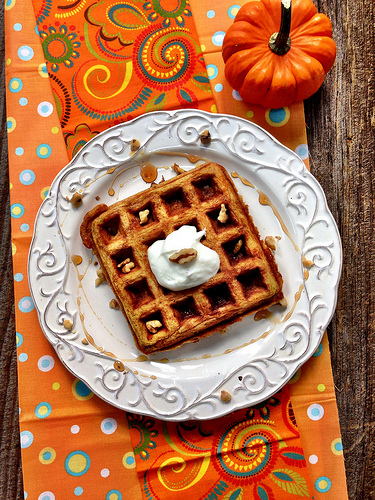 pumpkin waffles photo