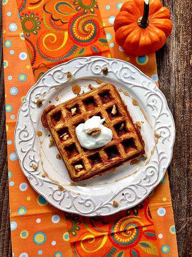 pumpkin waffles photo