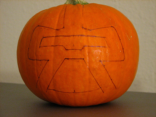 sharpie pumpkin photo