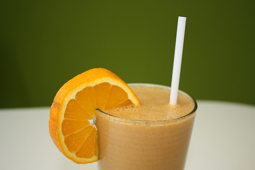 orange smoothie photo