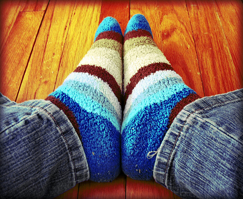 warm socks photo