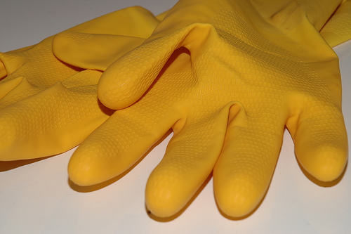 rubber gloves photo