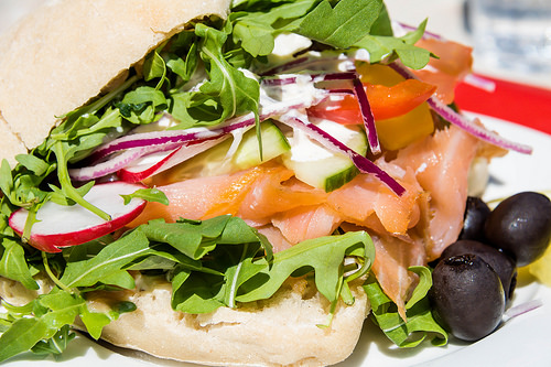 salmon salad sandwich photo