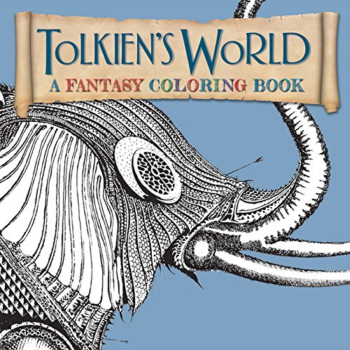 Over 90 Pages Of Beautiful Scenes Imagined Up By JR Tolkien Tolkiens World A Fantasy Coloring Book 1092