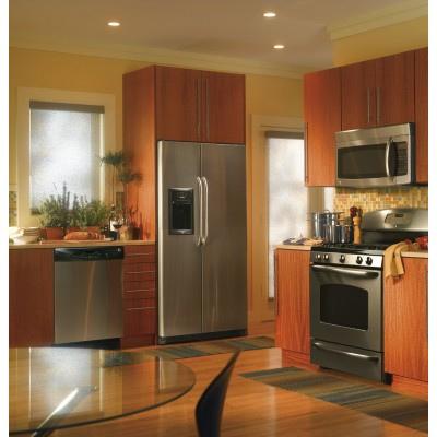 stainless steel fridge photo
