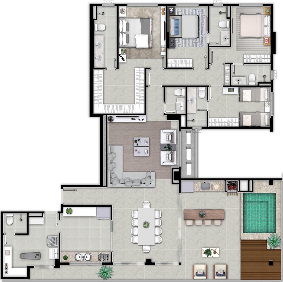 Planta penthouse 4 su%c3%8dtes