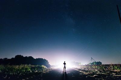 alien, nlo, field, night, sky, starry, stars, extraterrestrial, astronomy, light, fiction
