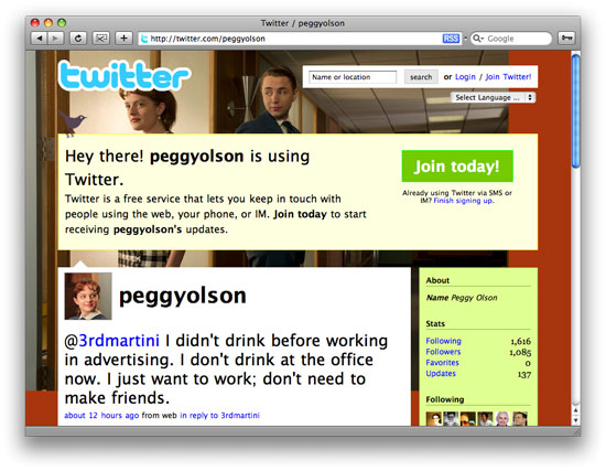 Peggy Olson on Twitter