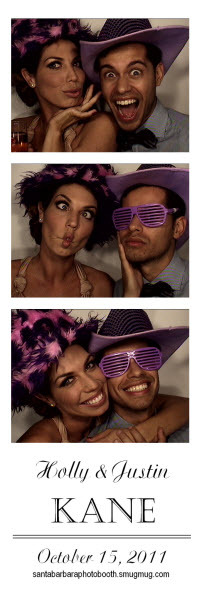 santa barbara photo booth strip Montecito Country Club