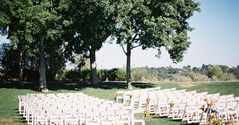 outdoor chic lawn ceremony