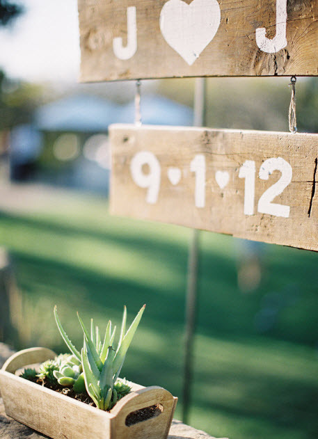 outdoor chic pinterest sign and succulants