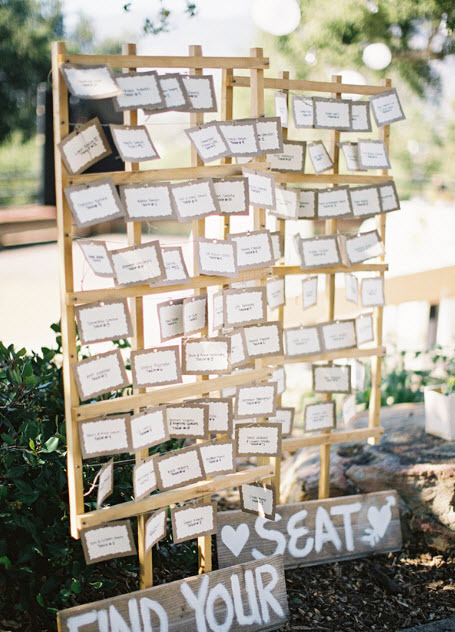 outdoor chic escort cards