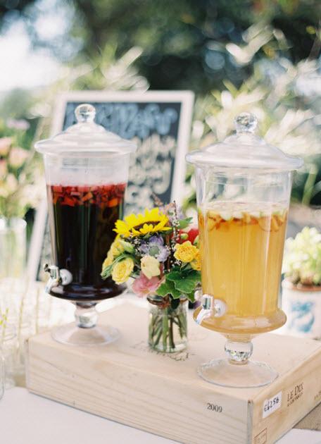 outdoor chic mason jars springtime straws