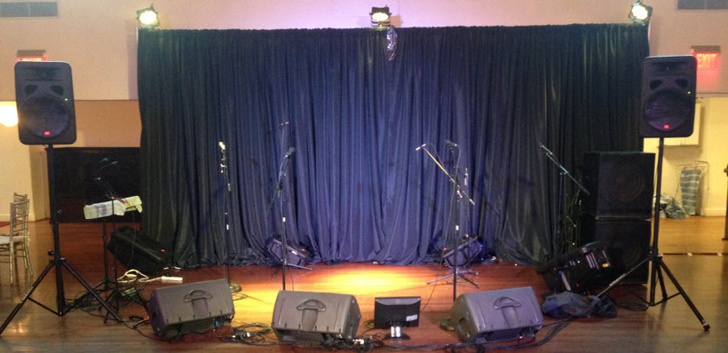 Band NO stage NO lights