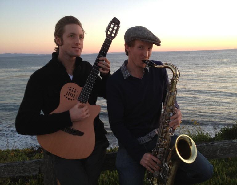 multi day guitar sax duo Bacara