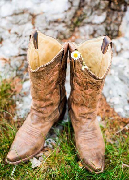 springtime rustic cowboy boots