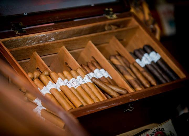 springtime rustic wedding cigars