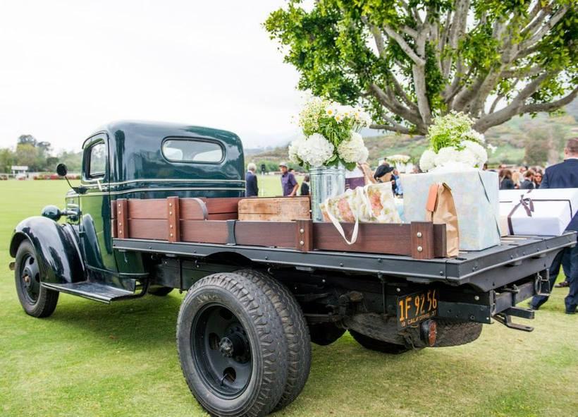springtime rustic vintage car rental gifts