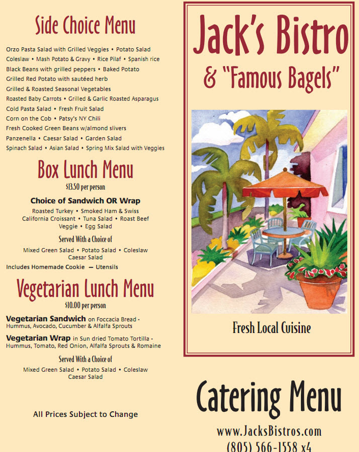 Catering Menu