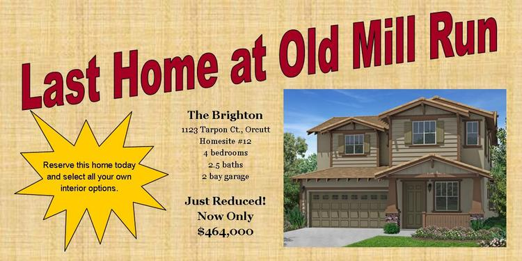 Final New Home at Old Mill Run in Orcutt