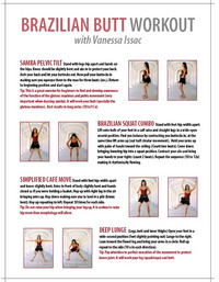 Brazilian Butt Workout for Fitness Magazine