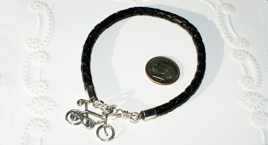 Eurpean Braided Leather Bicycle Bracelet
