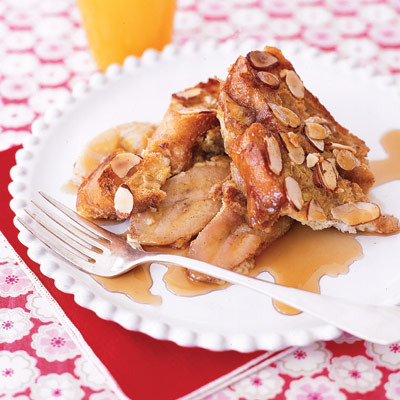 Syrupy Banana French Toast