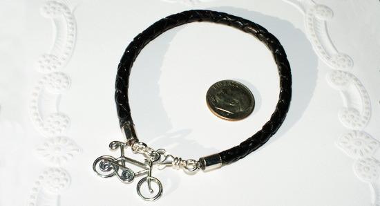 Eurpean Braided Leather Bicycle Bracelet