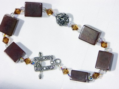 Large Size Brown New Jade Bracelet ~Perfect Serenity~