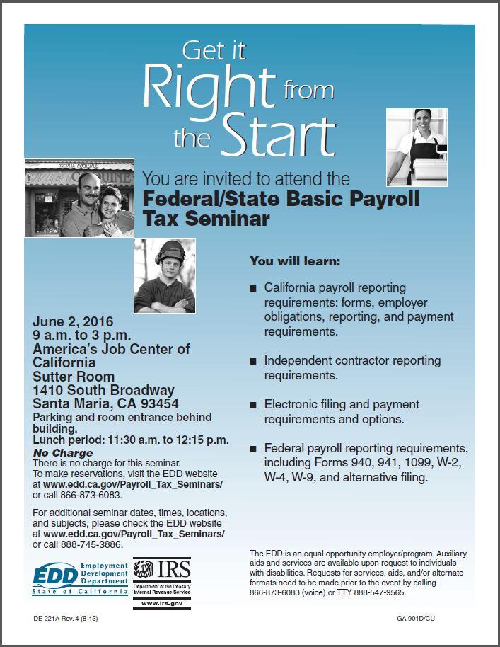 Federal / State Basic Payroll Tax Seminar