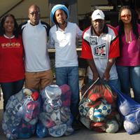 International Reggae Artiste Taj Weekes Donates Sporting Equipment to TT Coaches