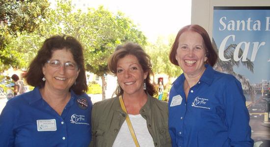 Laura at National Train Day with Santa Barbara Car Free