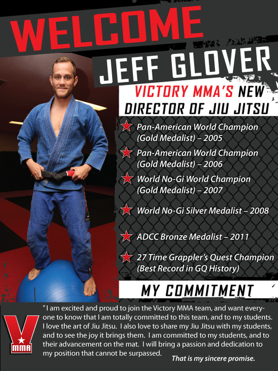 Welcome Jeff Glover to the Victory MMA Family
