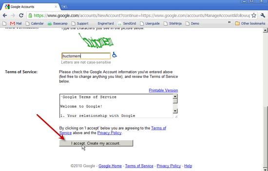 Create Google Account - 2