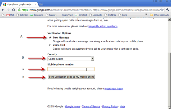 Create Google Account - 3