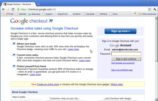 Google Merchant & Checkout - 3