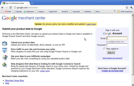 Google Checkout Creation - 1