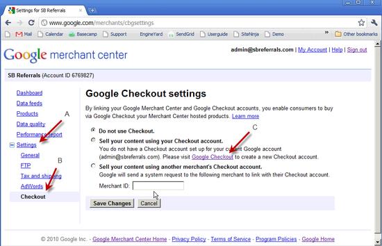 Google Checkout Creation - 2