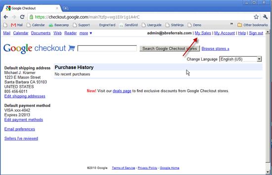 Google Checkout Profile - 2
