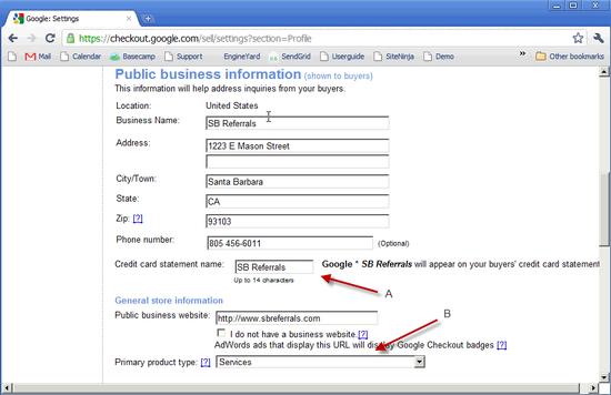 Google Checkout Profile - 4a
