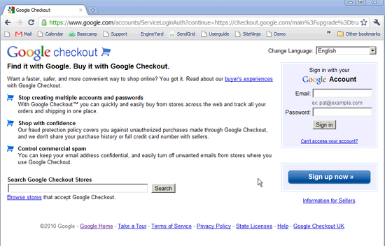 Google Checkout Bank Setup - 1